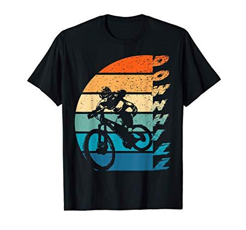 Mens Downhill MTB Mountain Bike BMX Japanese Retro Vintage T-Shirt