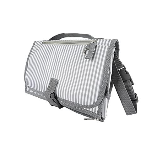 DYKJK Portátil Recién Nacido Plegable Impermeable pañal cambiante pañal portátil pañal de pañales Cubierta Limpieza Mano Plegable pañal Bolsa Juego Juego para el hogar y los Viajes (Color : SG)