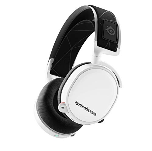 SteelSeries Arctis 7 (2019 Edition) Lossless Wireless Gaming Headset with DTS Headphone:X v2.0 Surround for PC and PlayStation 4 - White (Renewed)