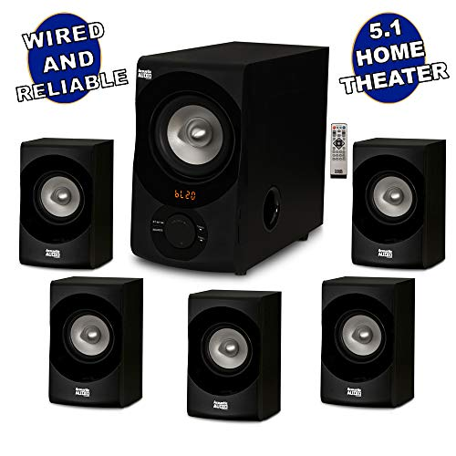 Acoustic Audio AA5171 5.1 Surround Sound Bluetooth Home Entertainment System