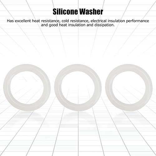 Junta tórica de Silicona, Juntas tóricas de 3 mm, Junta tórica, hornos de microondas para electrodomésticos para hervidores eléctricos para planchas(20 * 3)