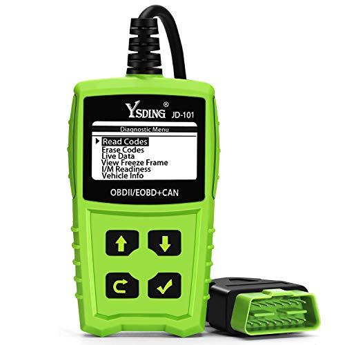 Ysding OBD2 Diagnosegerät, Auto Diagnosegerät OBD II Code Scanner Fahrzeug Fehlercodeleser arbeitet an Allen Autos mit OBD2 / EOBD/CAN-Modi und 16-Pin OBDII-Schnittstelle