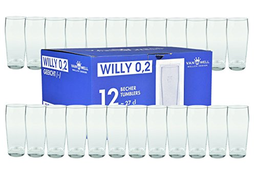Van Well 24er Set Bierglas Willibecher 0,2L geeicht