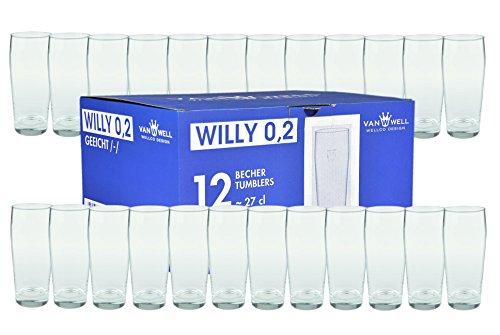Van Well 24er Set Bierglas Willibecher 0,2L geeicht
