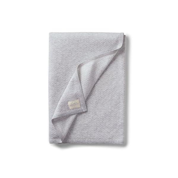 Hope & Henry Layette Diamond Jacquard Knit Blanket (One Size, Light Grey)