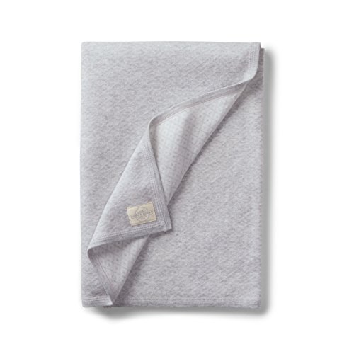 Hope amp Henry Layette Diamond Jacquard Knit Blanket One Size Light Grey