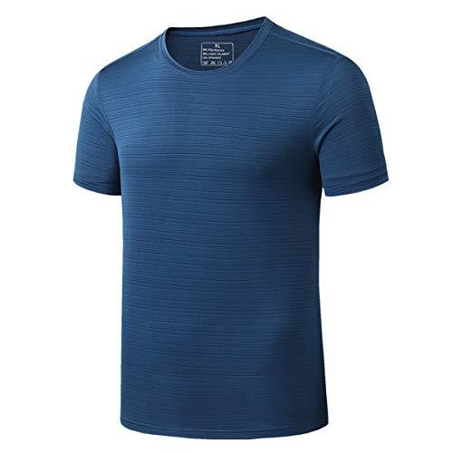 pour des Hommes Gym T-Shirt D'entraînement Dessus à Séchage Rapide Respirant Manches Courtes Wicking Fitness Soie De Glace Col Rond T-Shirt De Course Été T-Shirt De Sport,B,4XL