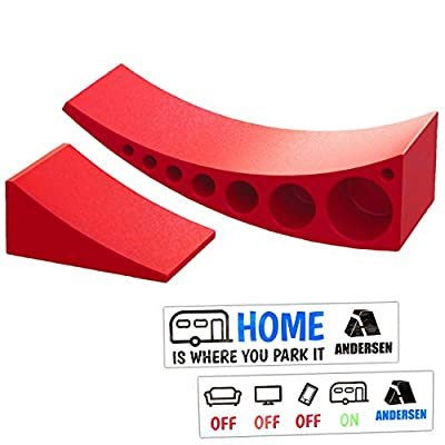 Andersen Hitches Camper Leveler Frustration Free Drive-On Leveling in Seconds | Up to 30,000 Lbs | Drive On, Chock, Done