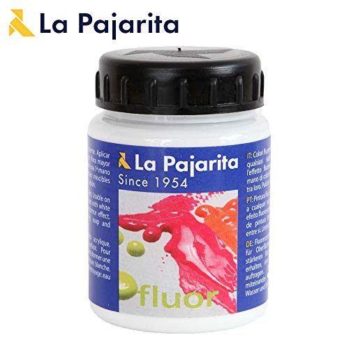 La Pajarita 1489/16 - Pintura acrílica, 75 ml, color blanco fluorescente