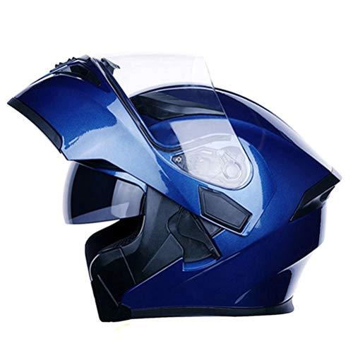 Casco de moto modular Casco de moto abatible aprobado por el DOT Dual Lens Motor Bike Scooter Hombres Casco de moto Casco de moto Four Seasons