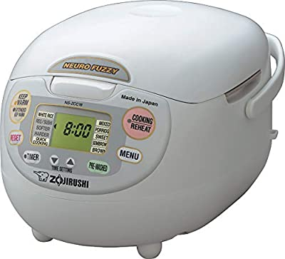Zojirushi 5-1/2-Cup (Uncooked) Neuro Fuzzy Rice Cooker and Warmer, Premium White