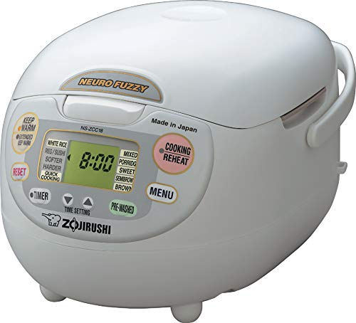 Zojirushi NS-ZCC18 10-Cup Neuro Fuzzy Rice Cooker, 1.8-Liters -$136.75(51% Off)