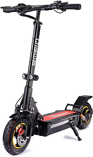 QIEWA Q1Hummer 800Watts 37MPH Electric Scooter with Dual Disk Brakes Max Driving Range Up to 68...
