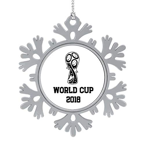 Christmas Ornaments 2020, 3'' Snowflake Meatal Ornament World Cup 2018 Black Home Hanging Decor for Xmas Tree Christmas Tree Decorations