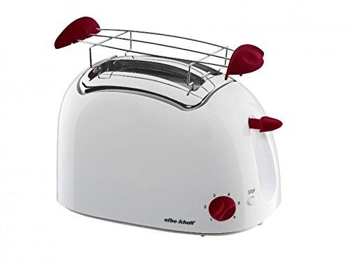 Efbe-Schott TO 400 PV Toaster Kunststoff 800 Watt weiß mit Highlights aus Samt