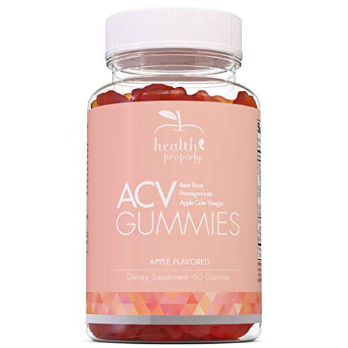 HEALTH PROPERLY - Apple Cider Vinegar Gummies | Immune System Support | Liver Detox & Weight Loss | Great Taste 60 Count | All Natural Superfood Cleanse