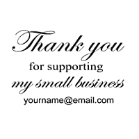 当社の小さなビジネスデザインをサポートしていただきありがとうございます。ハンドメイド、パーソナライズされたカスタムネームで作成、セルフインクテキストビジネス用インクスタンプ 2インチ