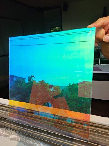 GSDGSD Solarfolie Dichroitische Fensterfolie Solar Tint DIY Dekorative Fenster Glasaufkleber Selbstklebende Regenbogen Solar Tint Folie 90X300Cm