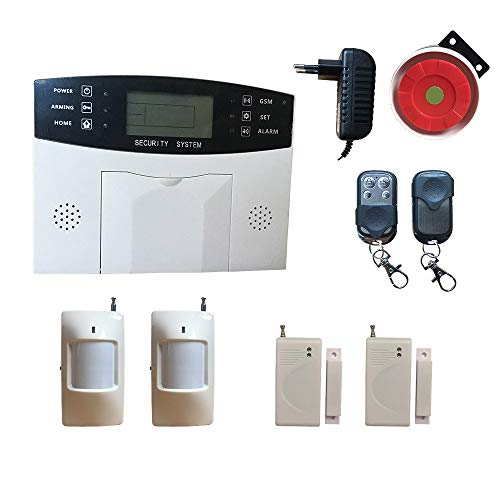 gsm Home Alarm System, Wireless House Security Alarm System with Motion Sensor Door Open Sensor Remote Control Wired Siren,HuilingyiTech