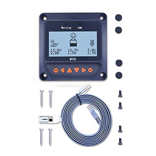 EPEVER Medidor remoto de pantalla LCD MT50 Compatible con controlador solar MPPT como Tracer-BN Tracer-AN LS-B LS-BP VS-BN eTracer iTracer