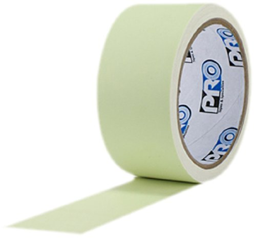 """ProTapes Pro Glow Phosphorescent Vinyl Glow in the Dark Tape, 18 mils Thick, 10 yds Length x 2"""" Width (Pack of 6)"""