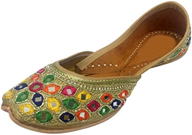 Step n Style Indian shoes Punjabi Jutti Flat Beaded Sandals Khussa shoes Ballerina