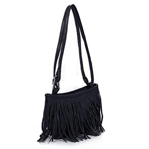 Damentasche Tasche Schultertasche Tassel Fransen Handtasche Shoulder Bag