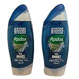 Radox Feel Awake for Men Gel de ducha y champú 2 en 1, 250 ml (2 unidades)