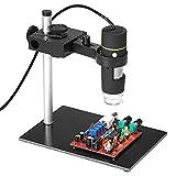 BINGFANG-W 1000x Microscopio Digital USB de Aumento con función OTG Función Endoscopio 8-LED Lupa de Lupa de Lupa con Soporte Aumento
