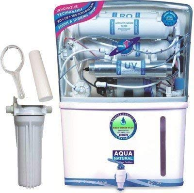 Aquas India Aqua Grand+7 Stage RO+UV+TDS+AS+UF With Mineral Cartridges Water Purifier 12 Ltr