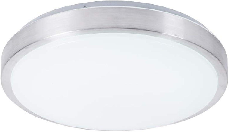 Wylolik 8-19 LED Deckenleuchten Unterputz Nickel gebürstet 6W LED Lampe rund Acryl 18W Hngebeleuchtung Küche Bad Esszimmer Modern Mini Simple 12W Deckenleuchte Weies Licht 6000K Ip42