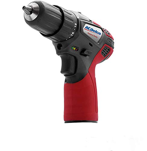 ACDelco Cordless 12V 2-speed Power Drill Driver 3/8''Heavy Duty  Build in LED 18 torque settings G12 Series  (Tool Only) ARD12119T