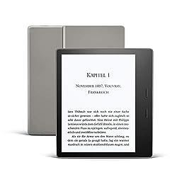 Kindle Oasis, Leselicht mit verstellbarer Farbtemperatur, wasserfest, 32 GB, WLAN, kostenloses 4G + WLAN, Grafit