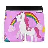 Men's Boxer Briefs Rainbow Unicorn Seamless Underwear Short