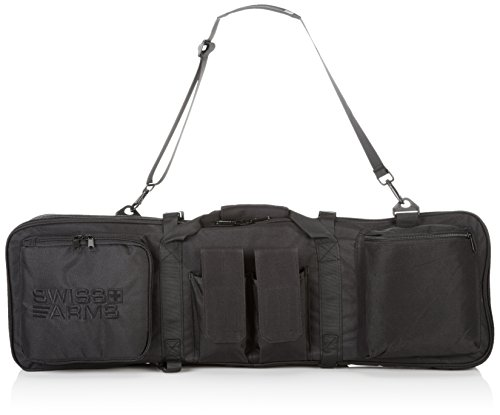 SWISS ARMS DOUBLE GUN RIFLE BAG 865mm X 280mm BLACK AISOFT WEAPON CARRIER