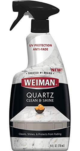 Weiman Quartz Countertop Cleaner and Polish - 24 Ounce - Clean and Shine Your Quartz Countertops Islands and Stone Surfaces with Ultra Violet Protection