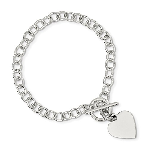 925 Sterling Silver Engraveable Heart Charm Bracelet 8.5 Inch/love Link Fine Jewellery For Women Gifts For Her