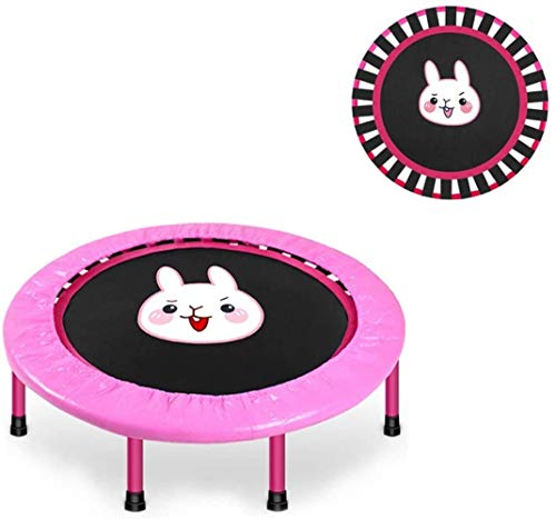 Gymqian Mini Trampoline Foldable Trampoline for Children/Kids Padded Mini Indoor Fitness Trampoline Children's Sports Toys Playground 40 Inches Adult