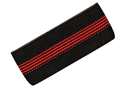Red Line Fire Department Mourning Band for Badges - Red Line FD Elastic Mourning Band - Honor Band