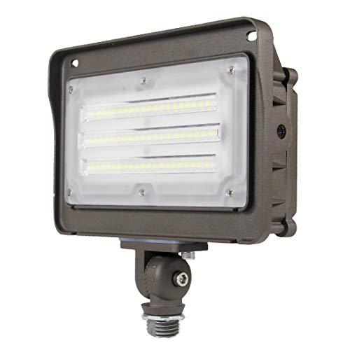 Kadision 50W Outdoor LED Flood Light, 6500LM (200W HPS/MH Equiv.) 5000K Daylight, Knuckle Mount LED Flood Lights for Ground Garage House Outside Yard, 100-277V IP65 Waterproof ETL&DLC Listed