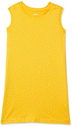 Amazon Brand - Jam & Honey Cotton Girls' Dresses & Jumpsuits Knee-Length Dress (AW20TRIKNIT03_Yellow_4-5 Years)