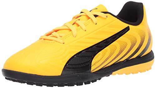PUMA Kid's One 20.4 TT Shoe, Ultra Yellowpuma Blackorange Alert, 4.5 M US Big Kid
