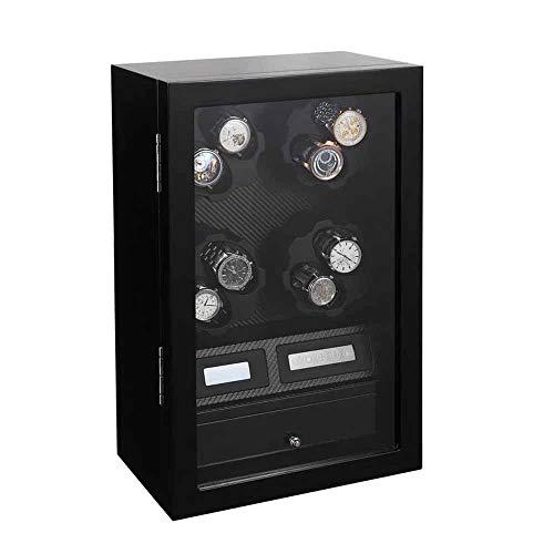 ウォッチワインダー、缶収納8腕時計、超静音耐磁モーター、ソフトで柔軟な表枕、サイズ306x186x488(H)ミリメートル 正確な時間 (Color : B)