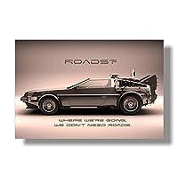バック・トゥ・ザ・フューチャー1 2 3キャンバスプリントポスターとリビングルームの装飾用の写真ウォールアート写真キャンバスにプリント(23.62X31.50インチ)60X80Cmフレームなし