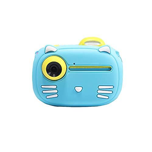 Câmera LAMCE para crianças, câmera digital, pode tirar fotos e imprimir Polaroid, meninos e meninas, 40 milhões de pixels HD Blue