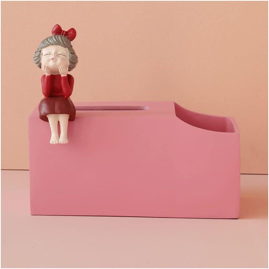 XWDQ Retro CuteFun Toot Girl Rectangular Award Cut Box Tissue Financial sales sale Resin