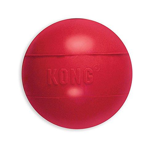 KONG - Ball with Hole - Juguete para Buscar de Caucho Resistente - para Perros Medianos/Grandes
