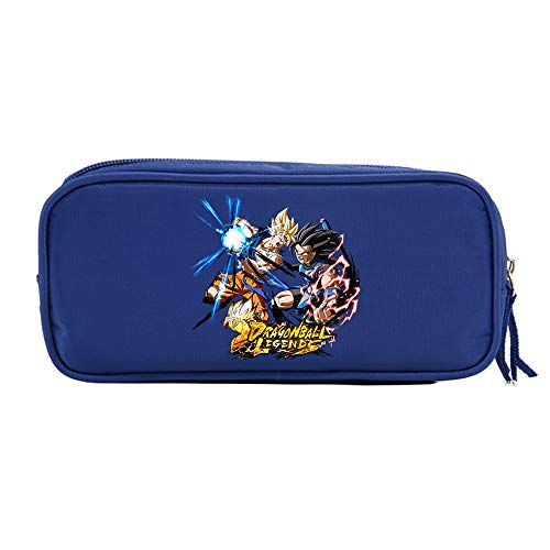 Dragon Ball Impreso Informal Bolsa de Almacenamiento de Gran Capacidad lápiz Bolsa básico lápiz Casos for niños y niñas Niños (Color : Blue24, Size : 21 X 10 X 5.5cm)