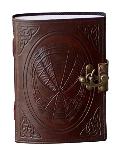 Spider Man Leather Journal Vintage Celtic Embossed Diary C- Lock Notebook & Sketchbook Handmade Leather Journal 7 x 5 inches