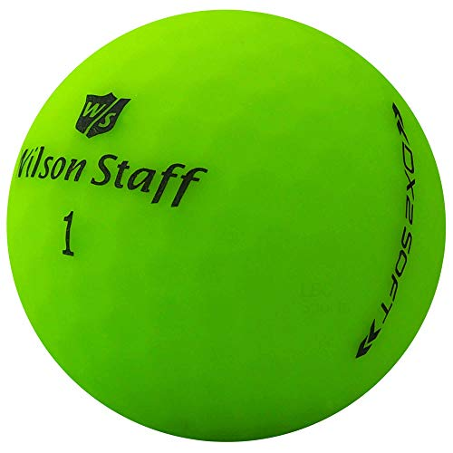 lbc-sports 24 Wilson Staff Dx2 / Duo Soft Optix Golfbälle - AAAAA - PremiumSelection - Grün - Mattes Finish - Lakeballs - gebrauchte Golfbälle - im Netzbeutel